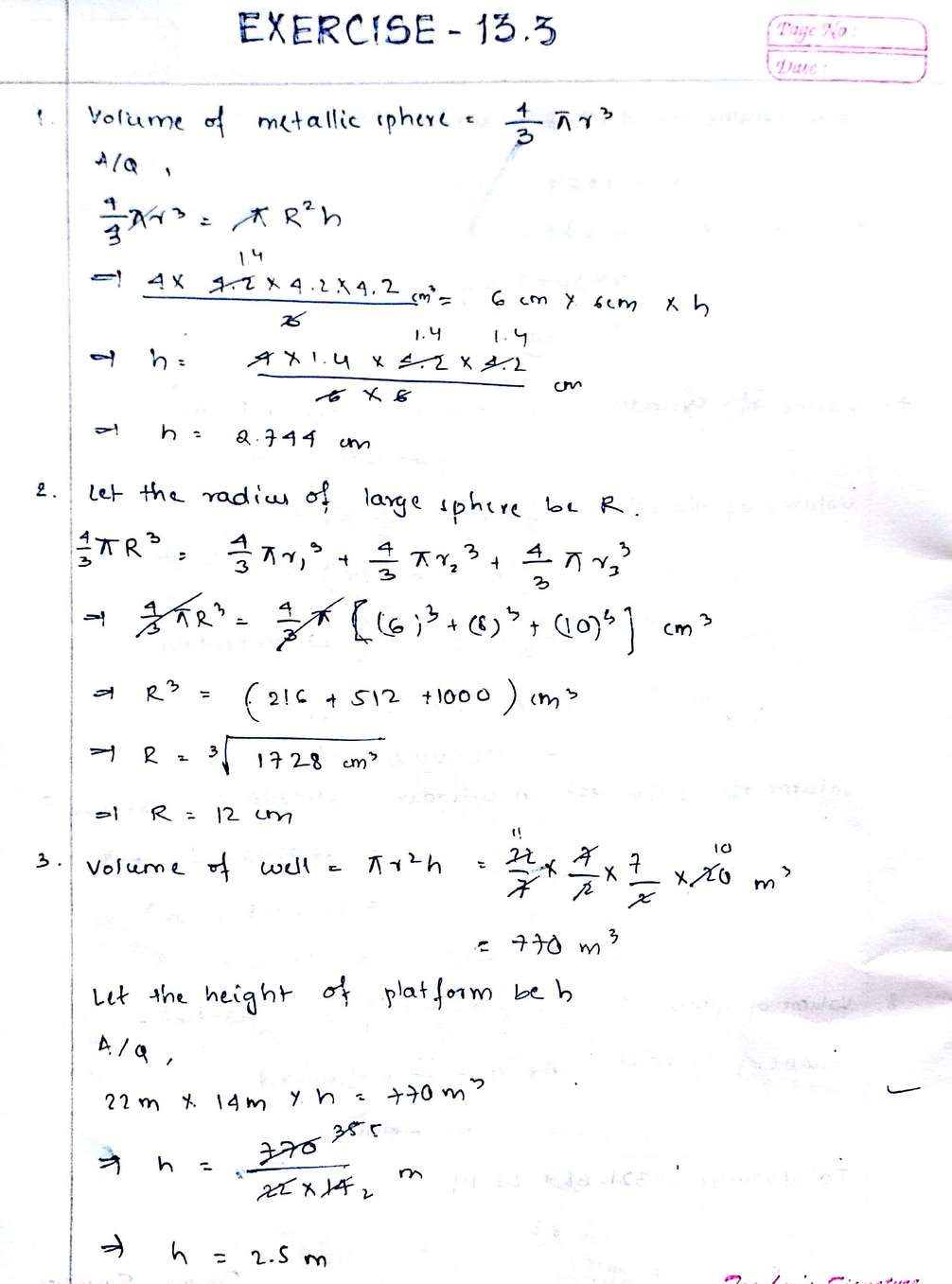 Mathematics Exercise 13.3 Chapter Solutions NCERT